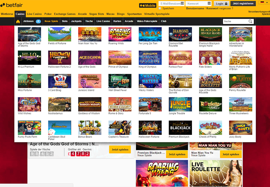 betfair casino seriös