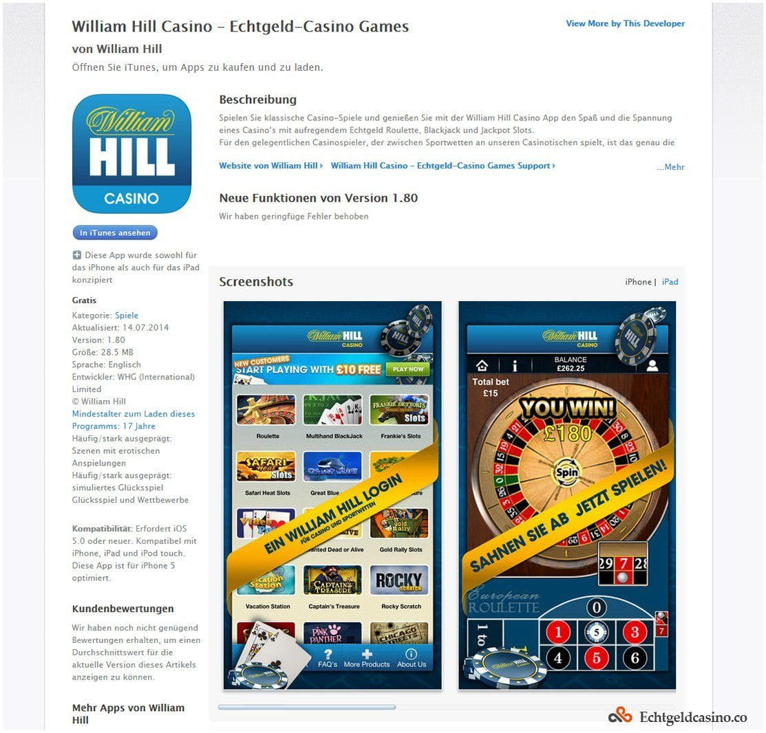 William Hill Casino Review 2018 | 150% up to €300 Welcome Bonus