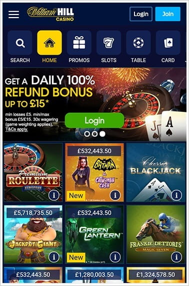 online william hill casino spiele ohne alles