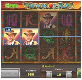 start online casino buch des ra