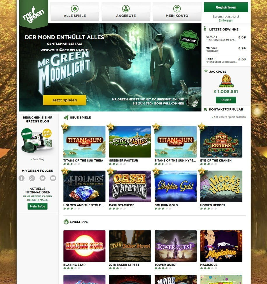 Mr Green Casino Kritik – persönliche Erfahrungen 2018