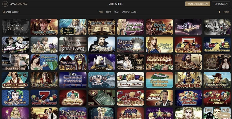 OVO Casino Online Bewertungen mit Promotionen und Boni
