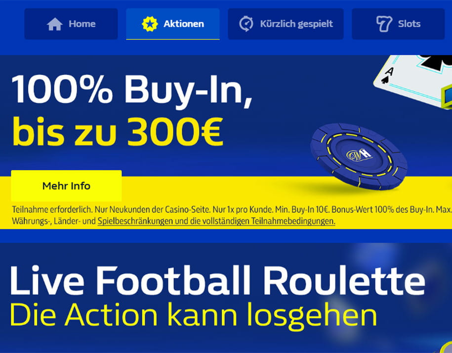 Der Willkommensbonus im William Hill Casino.